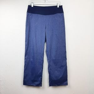 Lucy Crop Athletic Lounge Pant Blue Stretch M